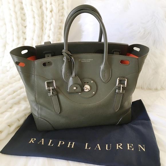 cef51eba79 Ralph Lauren Napa Soft Ricky Bag Handbag. M 5bbb99ca9539f7012975569c